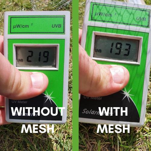 UK UV testing ClearMesh 25 result