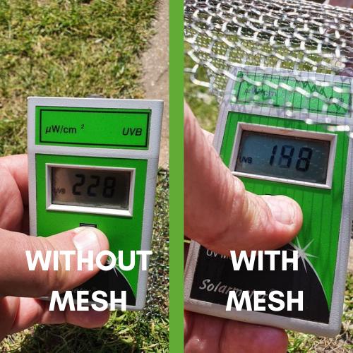 ClearMesh 35 UV testing results