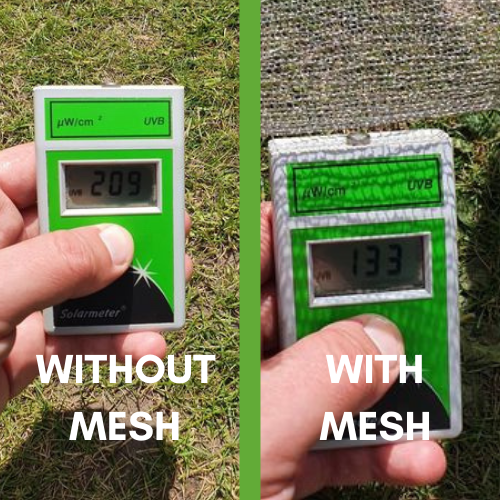ClearMesh HT UV testing results
