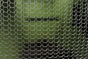 Close up of stainless steel knitted wire mesh